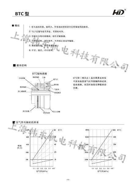 气动离合器btc型结构图